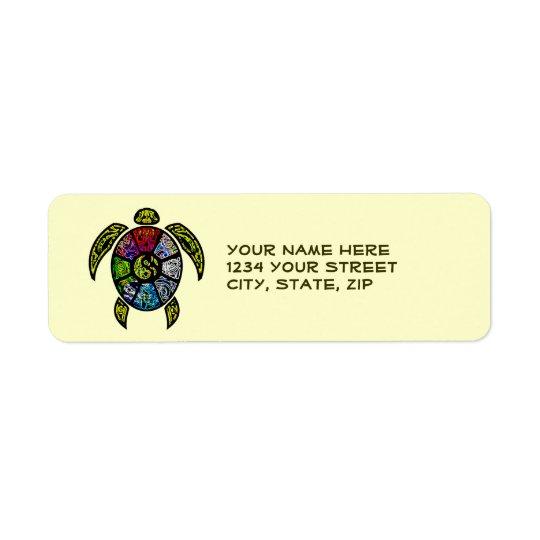 Ba-Gua de tortue Étiquette D'adresse Retour