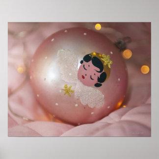 Babiole rose démodée de Noël Posters