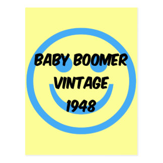 baby boomer 1948 carte postale