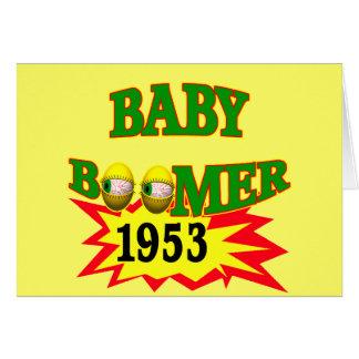 Baby boomer 1953 carte de vœux