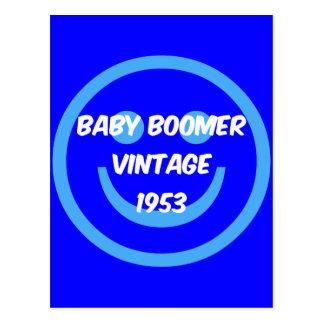 baby boomer 1953 carte postale