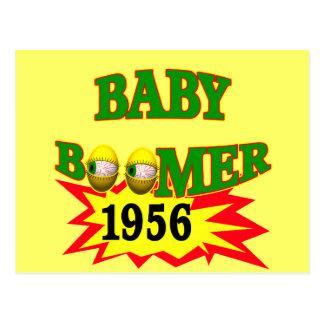 Baby boomer 1956 carte postale