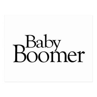 Baby boomer carte postale