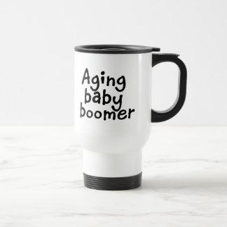 Baby boomer vieillissante mug de voyage