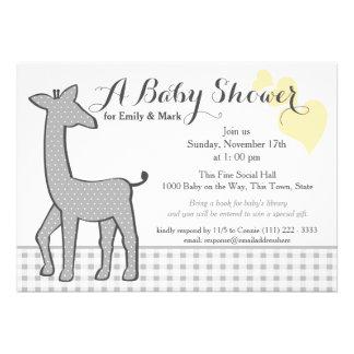 Baby shower à pois gris de girafe bristols