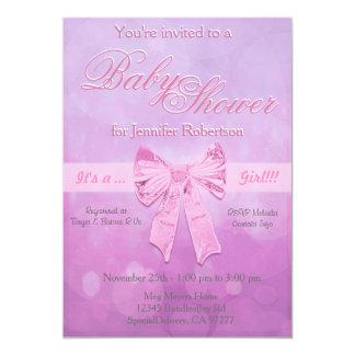 Baby shower avec des bulles carton d'invitation  12,7 cm x 17,78 cm