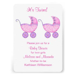 Baby shower avec des erreurs rose de filles de faire-part personnalisé