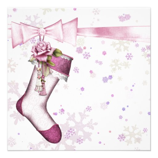 Baby shower blanc de flocons de neige de rose d'hi bristols personnalisés