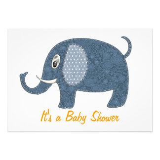 Baby shower bleu d éléphant