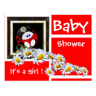 Baby shower carte postale