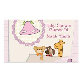 Baby shower d'animaux de bébé de bébé carte de visite