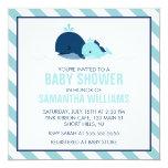 Baby shower de baleine de maman et de bébé {bleu} invitations personnalisées