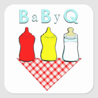Baby shower de BBQ Sticker Carré