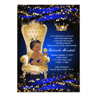 Baby shower de bleu royal, invitation de baby
