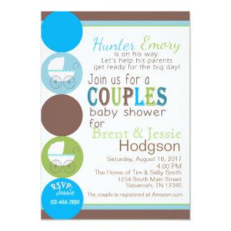 Baby shower de couples carton d'invitation  12,7 cm x 17,78 cm