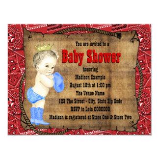 Baby shower de cowboy carton d'invitation 10,79 cm x 13,97 cm