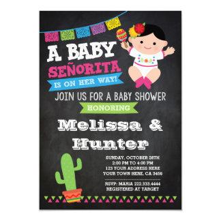 Baby shower de fiesta, invitation de tableau