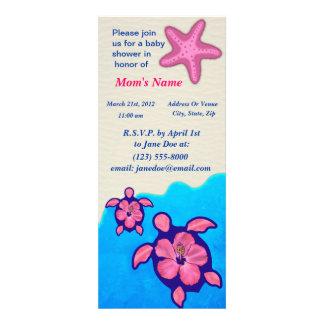 Baby shower de Honu de fille Cartons D'invitation