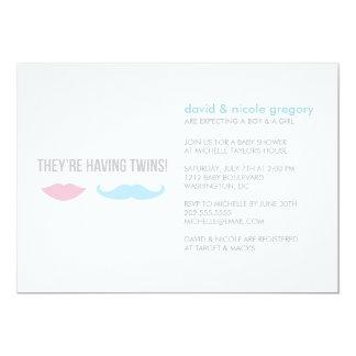 Baby shower de jumeaux carton d'invitation  12,7 cm x 17,78 cm