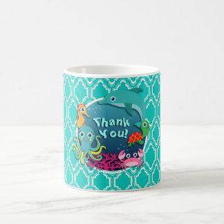 Baby shower de la vie d'océan de turquoise d'Aqua Mug
