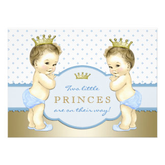 Baby shower de prince Twin Boy Bristol Personnalisé