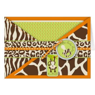 Baby shower de singe de safari et de poster de cartes