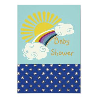 Baby shower de soleil et d'arc-en-ciel carton d'invitation  12,7 cm x 17,78 cm