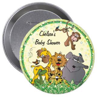Baby shower des animaux | de bébé de jungle de badge