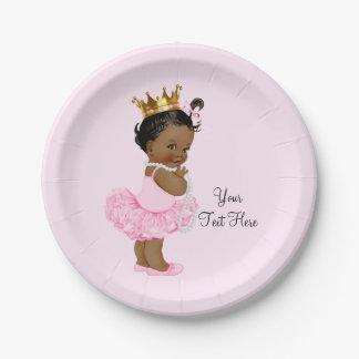 Baby shower ethnique de princesse Ballerina Tutu Assiettes En Papier