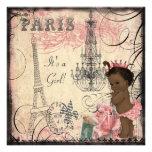 Baby shower ethnique de Tour Eiffel de princesse Bristols Personnalisés