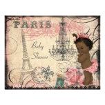 Baby shower ethnique de Tour Eiffel de princesse Invitations Personnalisées