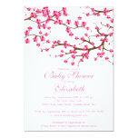 Baby shower floral de fleurs de cerisier assez faire-part personnalisé