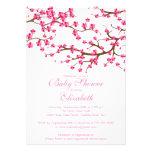 Baby shower floral de fleurs de cerisier assez ros faire-part personnalisé