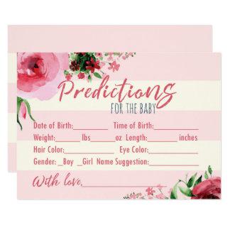 Baby shower floral Predictins pour la carte de