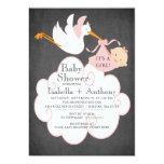 Baby shower Invitatation de FILLE de tableau de Invitations Personnalisées