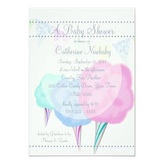 baby shower juste de sucrerie de coton de pays carton d 39 invitation 12