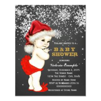 Baby shower mignon de flocon de neige de bébé de carton d'invitation 10,79 cm x 13,97 cm