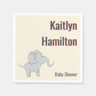 Baby shower mignon de l'éléphant | pour honorer la serviette jetable