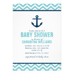 Baby shower nautique d'ancre et de chevrons {bleu}