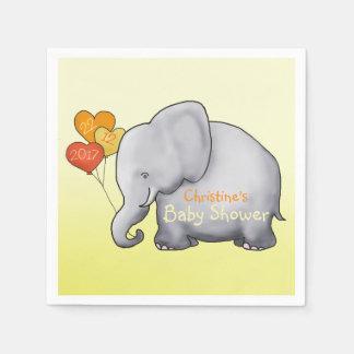 Baby shower non sexiste d'éléphant de ballons serviettes jetables