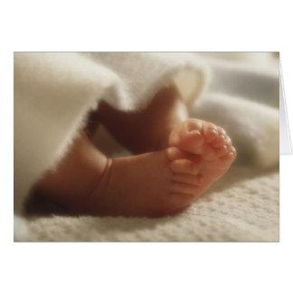 Baby shower ou faire-part petits pieds carte de vœux