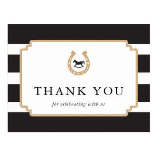 Baby shower personnalisé de carte postale de Merci