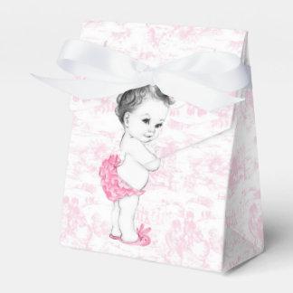 Baby shower rose de fille de Toile Boites Faveurs De Mariage