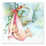 Baby shower vintage bleu et rose turquoise de invitations