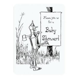 Baby shower vintage de magicien d'Oz Tinman Carton D'invitation 11,43 Cm X 15,87 Cm