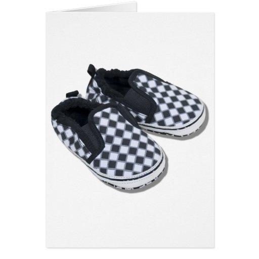 BabyRacingShoes101610 Cartes De Vœux
