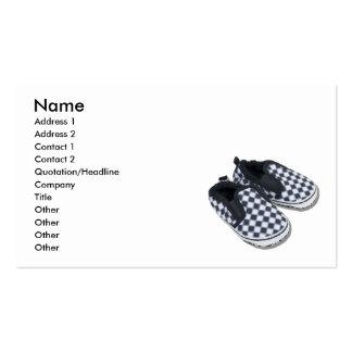 BabyRacingShoes101610, nom, adresse 1, adresse… Carte De Visite Standard