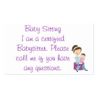 babysitter carte de visite standard