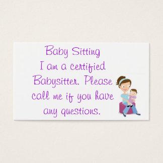 babysitter cartes de visite