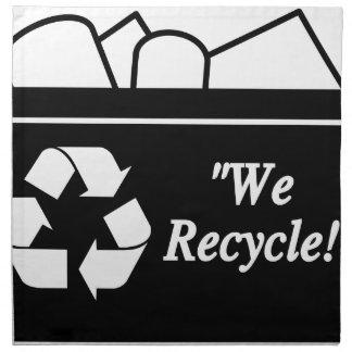 Bac de recyclage serviettes en tissus